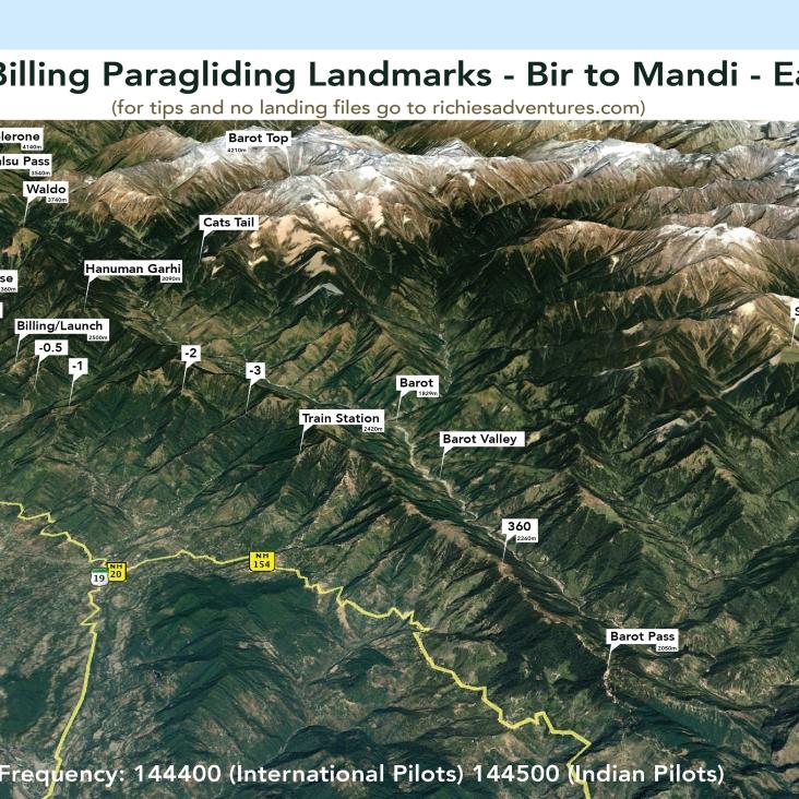 Bir Paragliding Landmarks - Mandi Ridge East 1