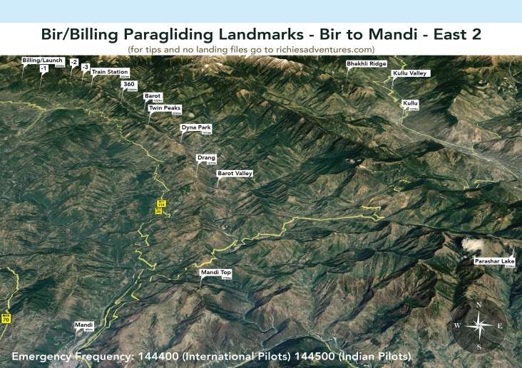 Bir Paragliding Landmarks - Mandi Ridge East 2