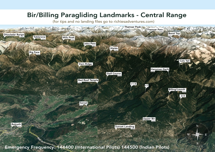 Bir Paragliding Landmarks - Dhauladar Range West 2